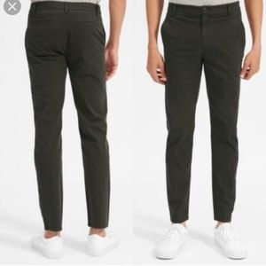 Mens EVERLANE CHINO OLIVE GREEN PANTS SIZE 33